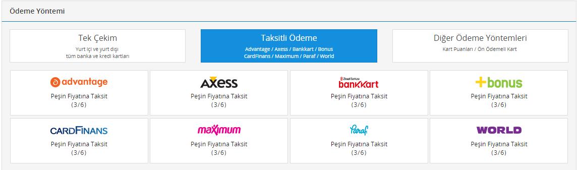PayTR Taksitli Ödeme